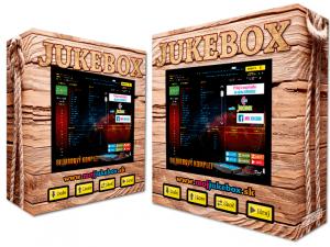 drevený motív jukebox